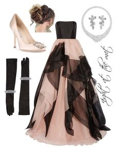 """""""Untitled #132"""" by bluesfanaticxs on Polyvore featuring Reem Acra, Manolo Blahnik, Dsquared2 and Harry Winston"""