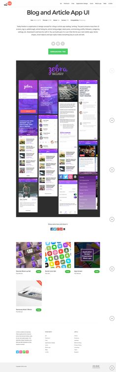 Blog and Article App UI