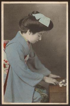 Japan - Japanese Geisha Girl - 11 - Vintage Tinted Postcard c1915
