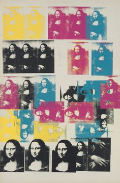 Andy Warhol. Colored Mona Lisa. 1979 1963   Silkscreen inks and graphite on canvas, 125 7/8 x 82 1/8 in. (319.7 x 208.6 cm.)