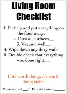 Terrific way to teach kids to help clean - also help to keep them on task