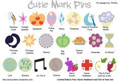 My Little Pony cutie marks guide