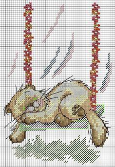 Cat Cross Stitches, Cross Stitch Charts, Cross Stitch Embroidery, Cross Stitch Patterns, Cat Template, Cat Decor, Stuffed Animal Patterns, Needlework, Yule