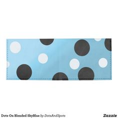 Dots On Blended SkyBlue Tyvek Wallet