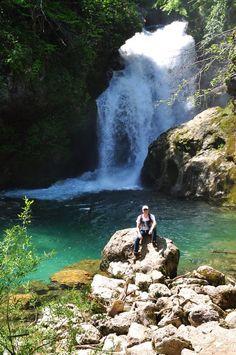 Vintgar Gorge na Eslovênia - Cachoeira ao final da trilha