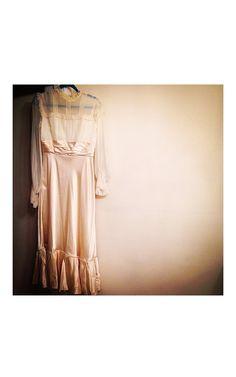 60s Lorrie Deb Victorian Gown . 60s Vintage by MerakiVintageShop