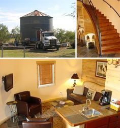 House in a Can: Prefab Metal Off-the-Shelf Grain Silo Homes Quonset Hut Homes, Shipping Container House Plans, Shipping Containers, Silo House, Grain Silo, Hotel Inn, Small Tiny House, Play Houses, Barn Houses