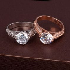 Crystal Alloy With Gold Plated Women's Ring, Two Colors