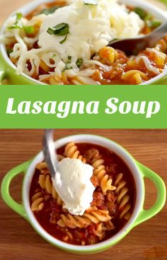 Lasagna Soup Recipe | This easy to make soup boasts all the goodness of lasagna without the heavy lifting. Check out the quick video to see how quickly it all comes together! #familydinner