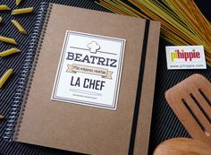 Cuaderno de recetas de cocina personalizado. http://www.pihippie.com/p/blog-page_97.html