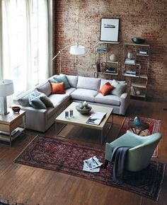 Industrial decor style is perfect for any interior. An industrial living room is always a good idea. See more excellent decor tips here:http://www.pinterest.com/vintageinstyle/