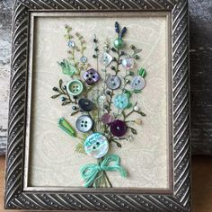 Antique Button Art by warnANDweathered on Etsy