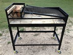 Manzanita is a Uruguayan Grill Kit for Wood or Charcoal Grilling with side Brasero X X Adjustable Grill Angle for multiple grilling temperatures & Brasero Bbq Grill, Grill Grates, Grilling, Asado Grill, Campfire Grill, Parrilla Exterior, Bbq Tongs, Grill Brush, Grill Design