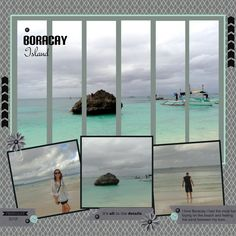 Absolutely love beach scrapbook layout