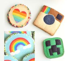 Valentine Rainbow Heart Cookies - Eugenie Cookies - Eugenie Kitchen