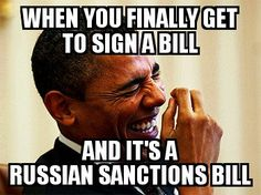 The irony of the first piece of major legislation Trump signs being Russian sanctions & tying his hands on lifting them because Congress, even his own party members, don't trust him.
