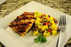 Grilled Salmon with Mango Salsa [Homemade] http://ift.tt/2iAv0nR