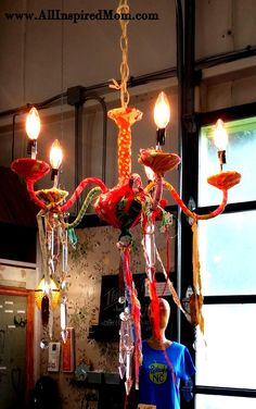 Hello, Chandelier!  Upcycled at Ornamentea.