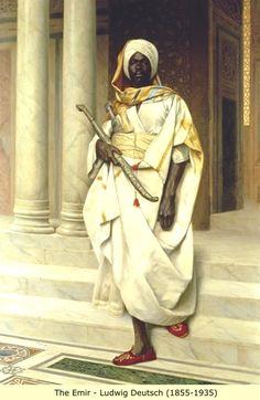 The Emir by Ludwig Deutsch. Ludwig Deutsch (Vienna, 1855 - Paris, was an… African History, African Art, Black Art, Black History, Art History, Jean Leon, Empire Ottoman, Ludwig, African Diaspora