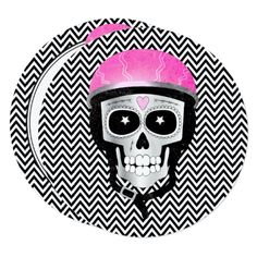 Biker Skull Day of the Dead or Halloween Party Card - Halloween happyhalloween festival party holiday