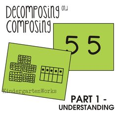 Decomposing Numbers -Understanding how and why we decompose numbers with kindergartners. It matters and they CAN do it! I've had the majority of my class working within 100 by the end of the school year.