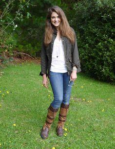 Barbour jacket & Dubarry boots = <3