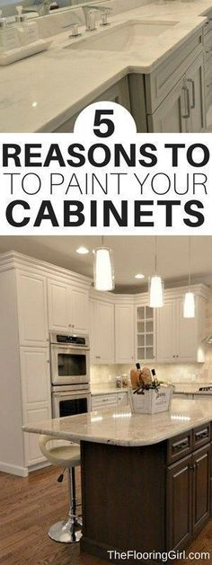 Home Decor Ikea 5 Reasons to Paint Your Kitchen Cabinets.Home Decor Ikea 5 Reasons to Paint Your Kitchen Cabinets Diy Kitchen Furniture, Kitchen Cabinets In Bathroom, Painting Kitchen Cabinets, Diy Cabinets, Kitchen Paint, Kitchen Flooring, White Cabinets, Refinish Cabinets, Cherry Cabinets
