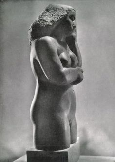 NEW: Curator blog on Barbara Hepworth. Contemplative Figure, Polyphant stone, 1928 as reproduced in Herbert Read's Barbara Hepworth (London, 1952) © Bowness  Private collection