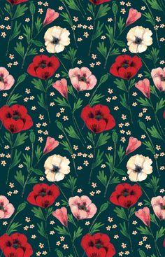 background, nature, pattern, illustration, flowers, art, wallpaper
