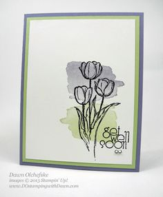 Blessed Easter and Happy Watercolor stamp sets, Wisteria Wonder and Pistachio Pudding ink