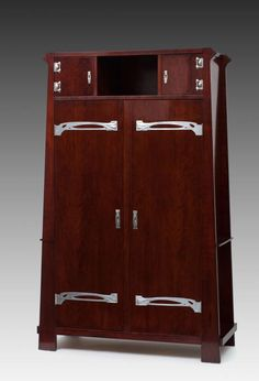 School of Prof. Josef Hoffmann, Cabinet, Vienna 1900 | From a unique collection of antique and modern cabinets at http://www.1stdibs.com/furniture/storage-case-pieces/cabinets/