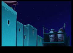 cartoon background (La Reine soleil)