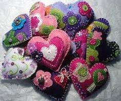 Image result for felt hearts