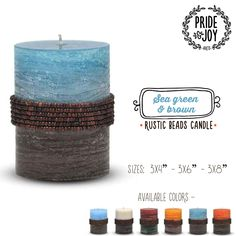 Illuminate your home in authentic rustic beauty and style with our beautifully detailed Rustic Beads Pillar candles. :) :) #Candles #HomeDecor #Flipkart #Amazon #Snapdeal #Shopclues  #PayTm #Limeroad #Shopping #India #DecorativeCandles #DriplessCandles