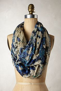 Multicolor Floral print Fringed Rill Scarf #32759185 @ Anthropologie $60