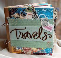 Zou jij niet ook zo'n mooi zelfgemaakt reisboek willen?