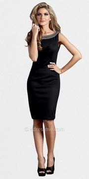 Low Scoop Back Sheath Dresses by Terani Couture on shopstyle.com