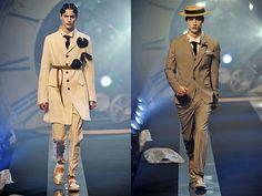 old hollywood glamour men john galliano-