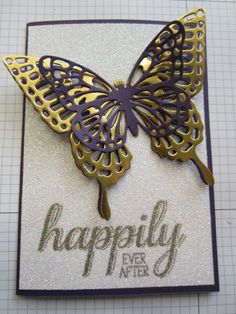 Cards by Carly - Pakenham  Independent Stampin' Up! demonstrator  Butterflies thinlits and Big News (c) Stampin'Up!