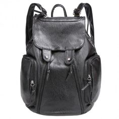 New Fashion Women Synthetic Leather Solid Backpack Rucksack Shoulder School  Bags 28e0355fa3d3a