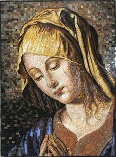 Virgin Mary Mosaic Stone Art. MR187