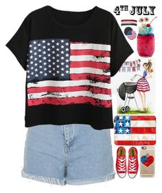 """""""4th of July // itsybitsy62"""" by itsybitsy62 ❤ liked on Polyvore featuring Kim Rogers, Crate and Barrel, Topshop, Chicnova Fashion, Casetify and Converse"""