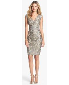 2014 Designer Grey Sliver Lace Sheath Short Prom Dress
