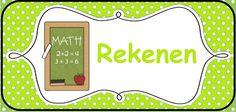 Structuur in de klas brengen: kaarten voor op het prikbord. --> Rekenen/wiskunde © Sarah Verhoeven
