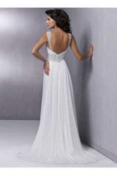 Empire Träger Chiffon Hochzeitskleid Brautkleid Abendkleid Perlen $230.99 #hochzeitskleid #bridal gown #träger #my wedding #bridal #perlen #brautkleid #wedding dress #chiffon #empire #wedding #abendkleid