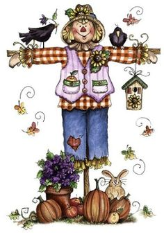 Cute Scarecrow and Friends!