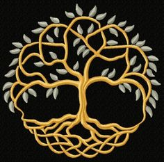 Machine Embroidery Designs Advanced Embroidery Designs - Celtic Tree of Life II Viking Embroidery, Machine Embroidery Thread, Advanced Embroidery, Types Of Embroidery, Free Machine Embroidery Designs, Embroidery For Beginners, Celtic Quilt, Celtic Patterns, Celtic Designs