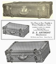 Antique Graphics Wednesday - 1900's Suitcase Trunk Advertisements - Knick of Time