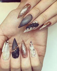 Best Stiletto Nails For 2018 89 Trending Stiletto Nail Designs