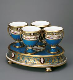 Ice-Cream Cup, Cameo Service, Sevres porcelain 1777-1778 - Hermitage Museum